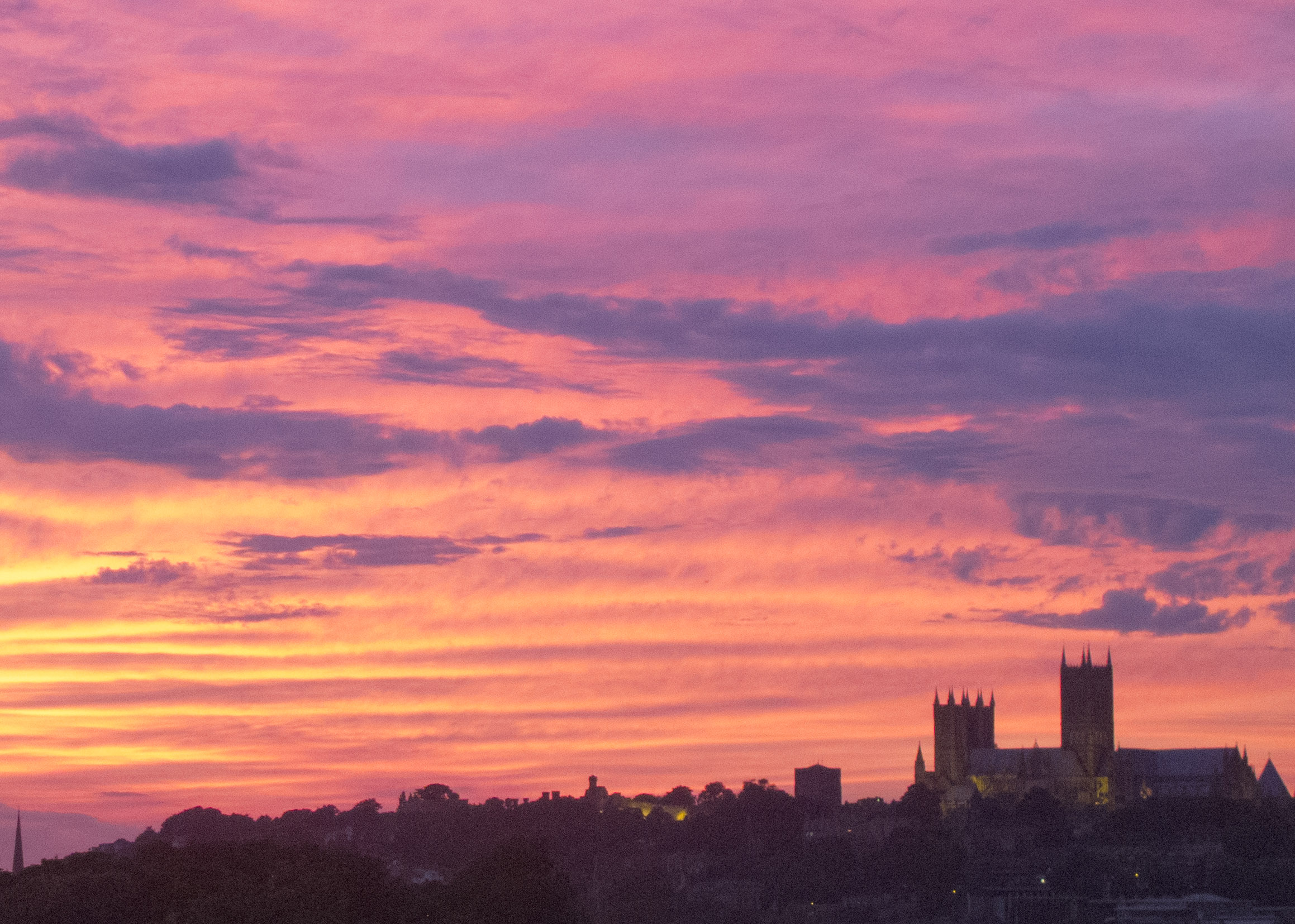 Sunset behind Lincoln Cathedral